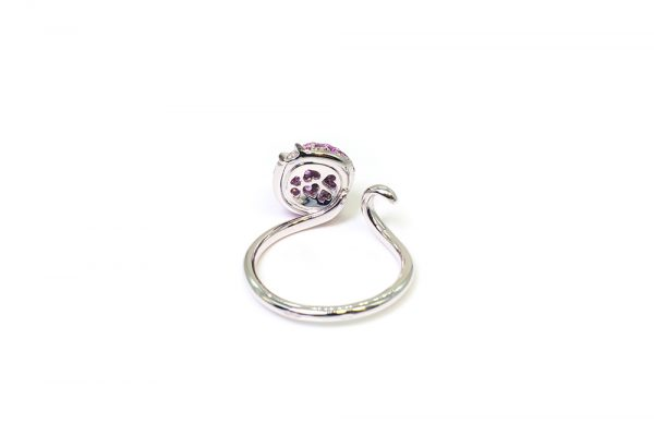 Collection Joaillerie Eclosion - Bague Saphirs roses 2