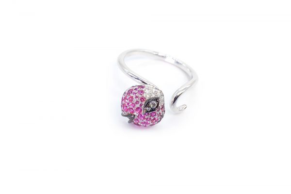 Collection Joaillerie Eclosion - Bague Saphirs roses