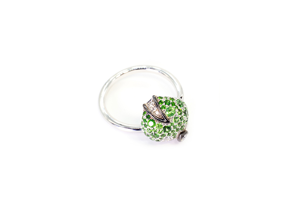 Collection Joaillerie Eclosion - Bague Tsavorites