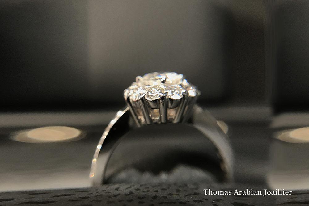 Bague Panier Diamants 2