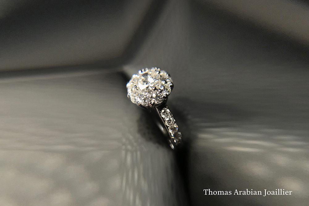 Bague Panier Diamants