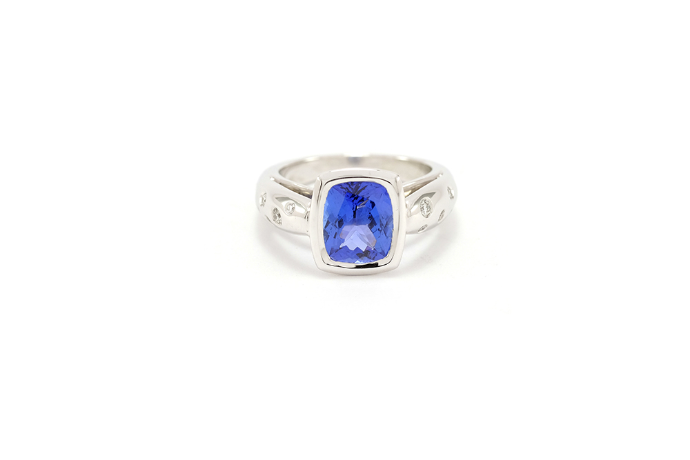 Bague or blanc - Tanzanite 1