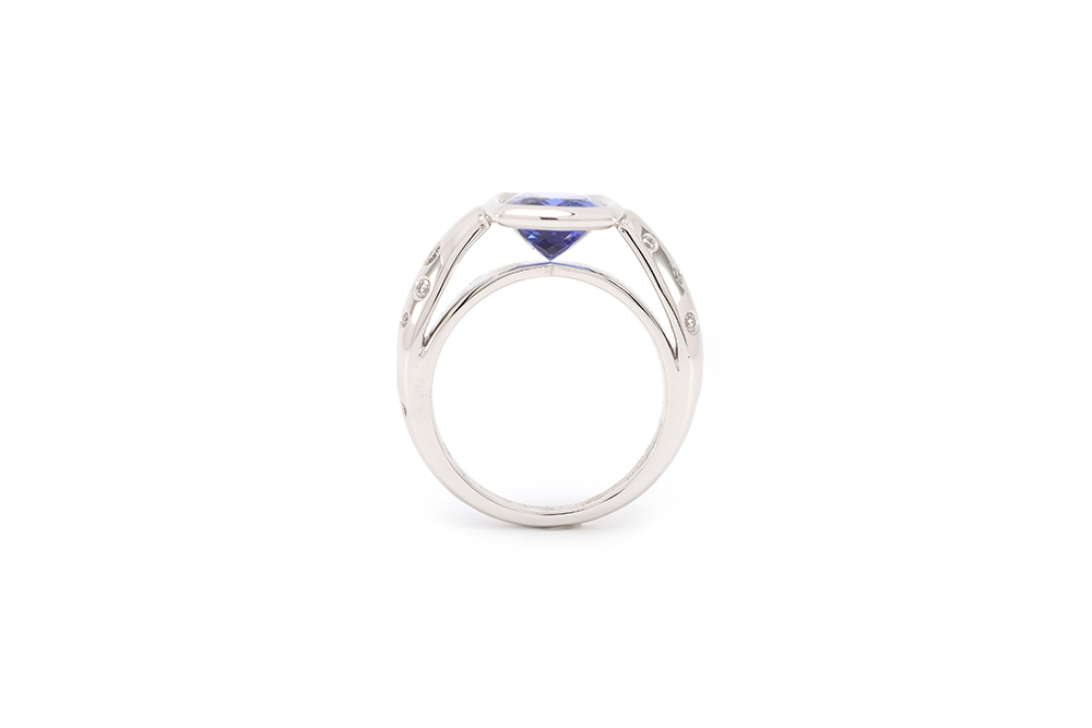 Bague or blanc - Tanzanite 5