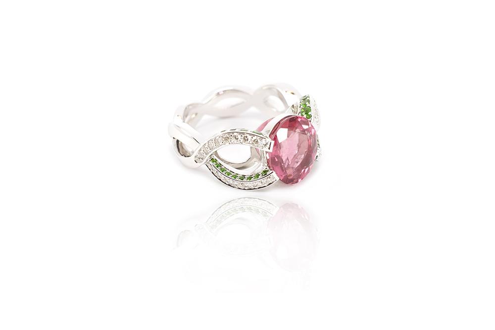 Bague Tutti Frutti - Tourmaline Rose 2