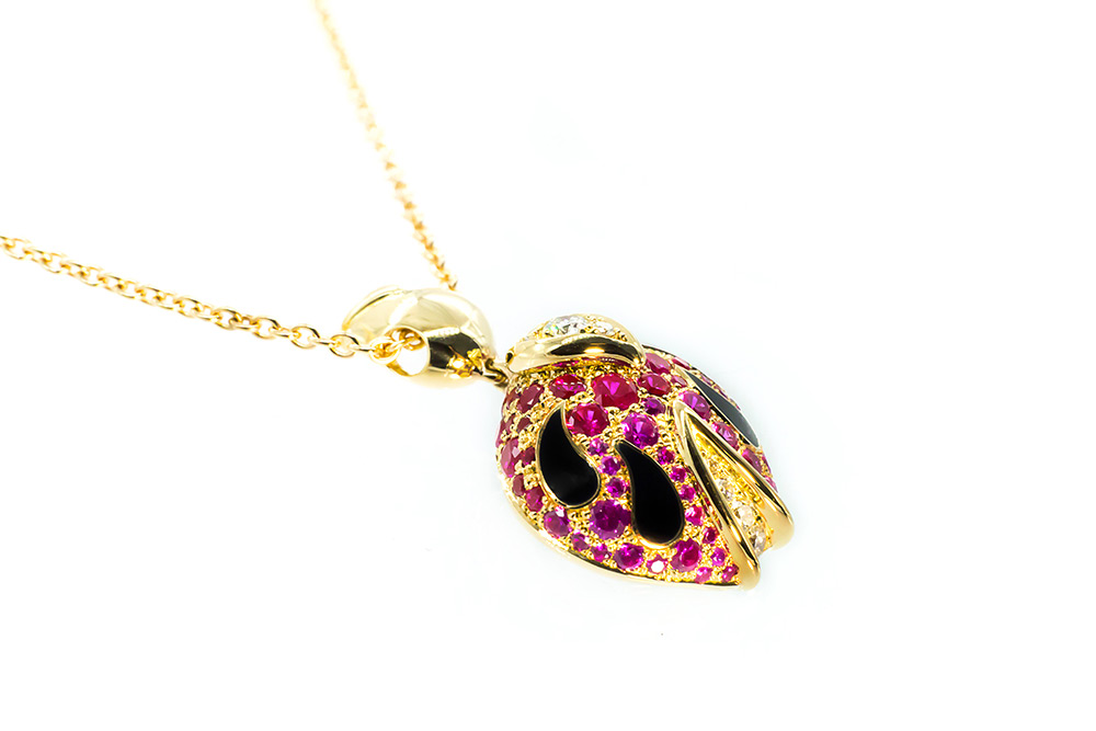 Collection Joaillerie Eclosion - Pendentif Rubis
