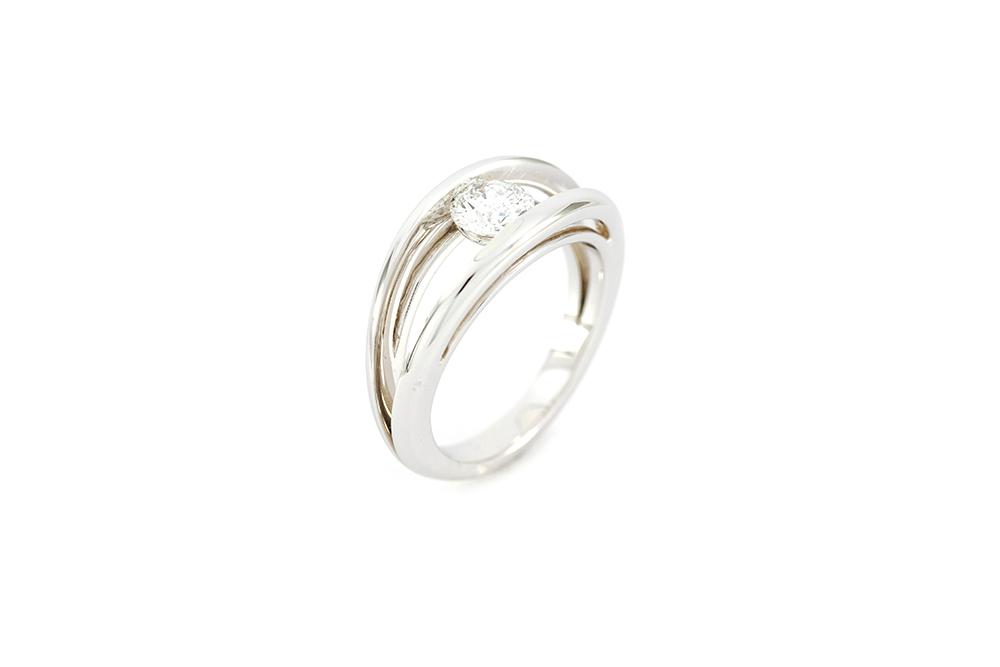 lisse nouvelles images de modèle unique Solitaire en or blanc - Diamant - Thomas Arabian - Joaillier ...