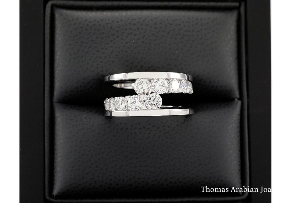 Bague diamants de type Toi et Moi selon Thomas Arabian 2