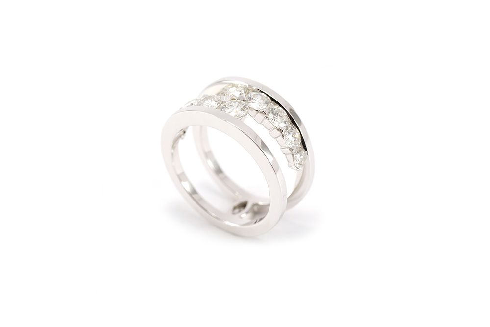 Bague diamants de type Toi et Moi selon Thomas Arabian 3