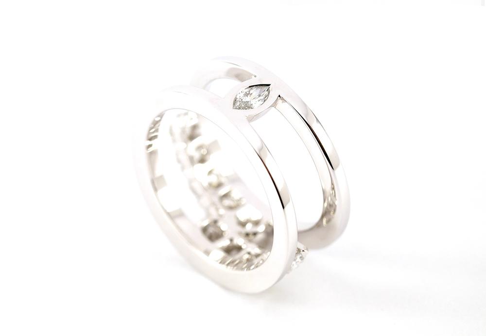Bague diamants de type Toi et Moi selon Thomas Arabian 6