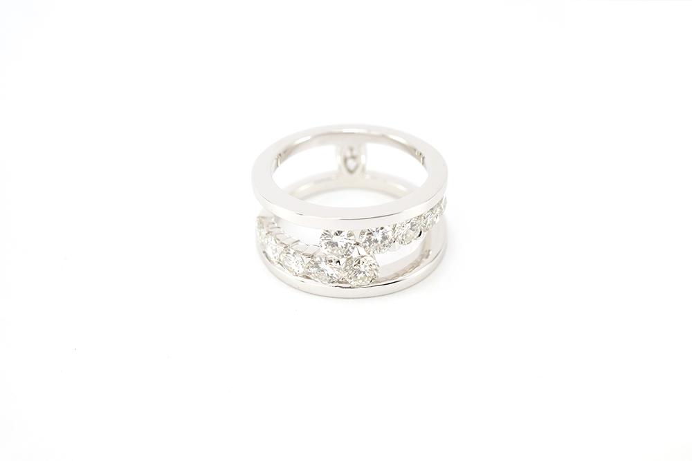 Bague diamants de type Toi et Moi selon Thomas Arabian 7