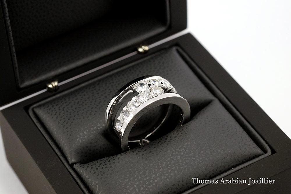 Bague diamants de type Toi et Moi selon Thomas Arabian