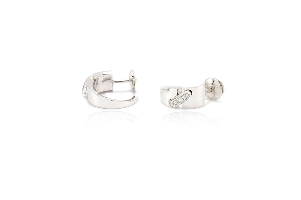 Boucles d'oreilles Larmes de lune - or blanc et diamants 4