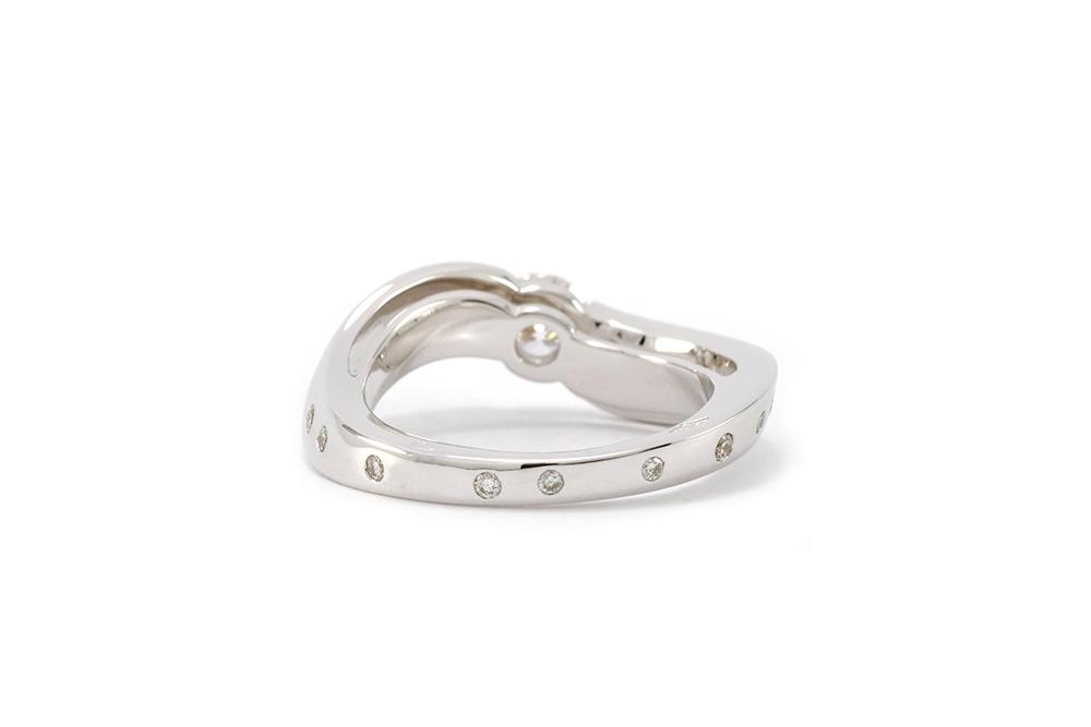 Bague Twist - Or blanc et Diamants 2
