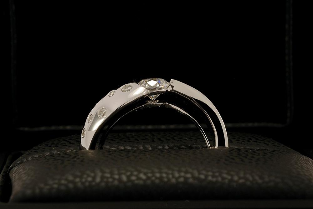 Bague Twist - Or blanc et Diamants 5