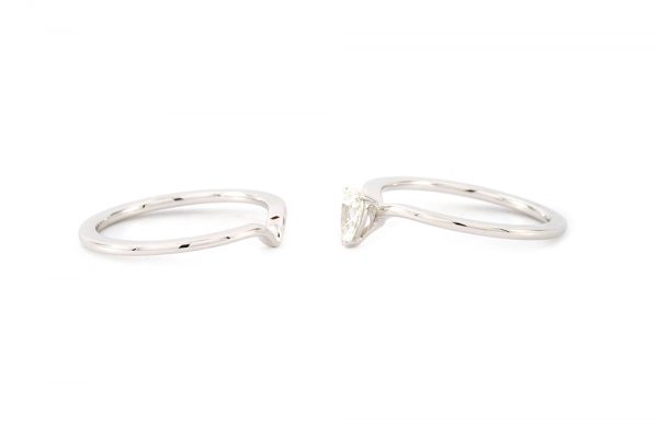 """Bague """"Nous Deux"""" - Diamant Poire et Or blanc 2"""