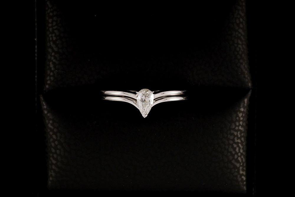 """Bague """"Nous Deux"""" - Diamant Poire et Or blanc 3"""