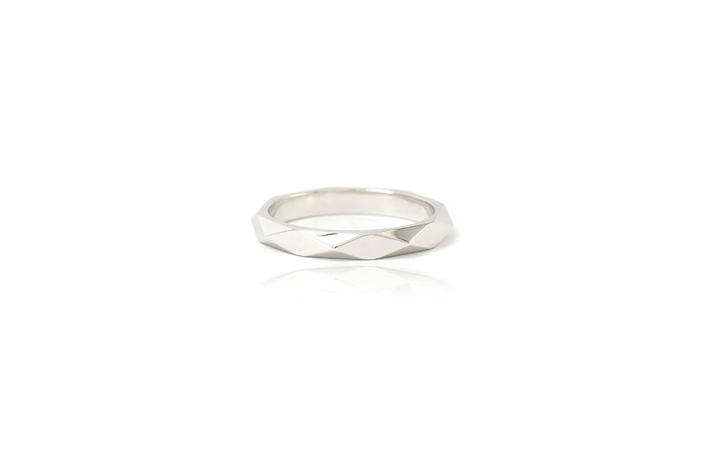 Alliance Arlequin - Or blanc 18 carats - 3