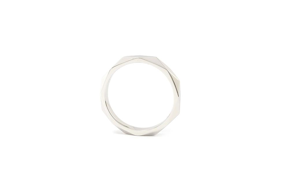 Alliance Arlequin - Or blanc 18 carats - 4
