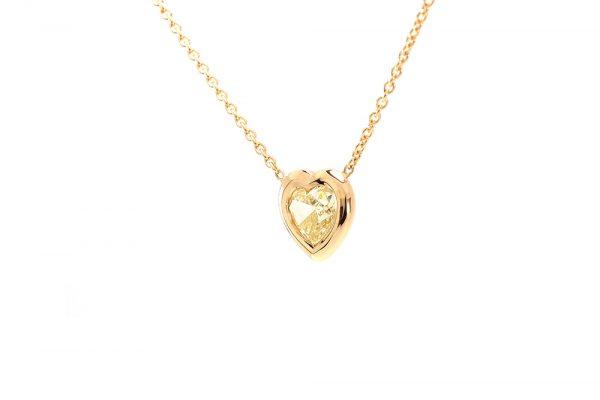 Pendentif Love - Or Jaune et Diamant Jaune 2