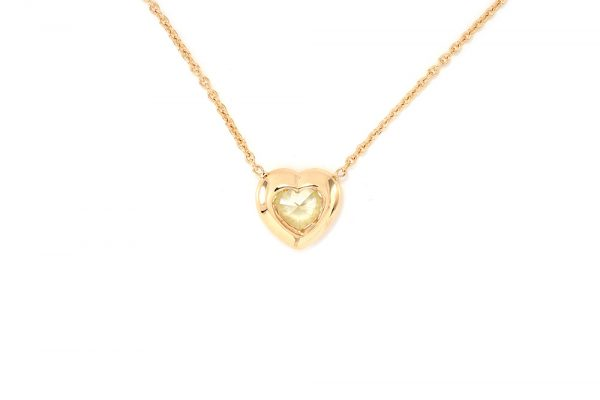 Pendentif Love - Or Jaune et Diamant Jaune 5