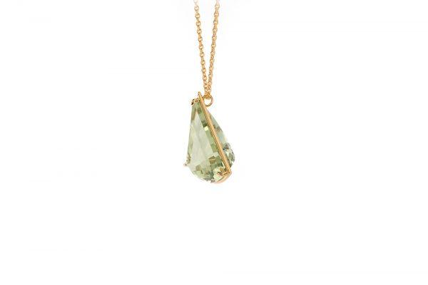 Pendentif Pendulum - or jaune et Prasiolite 3