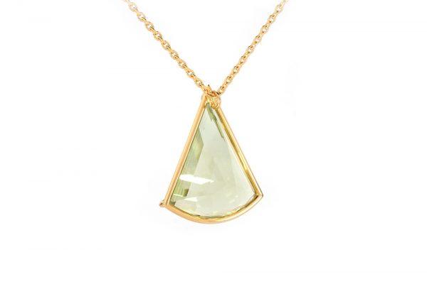 Pendentif Pendulum - or jaune et Prasiolite 4