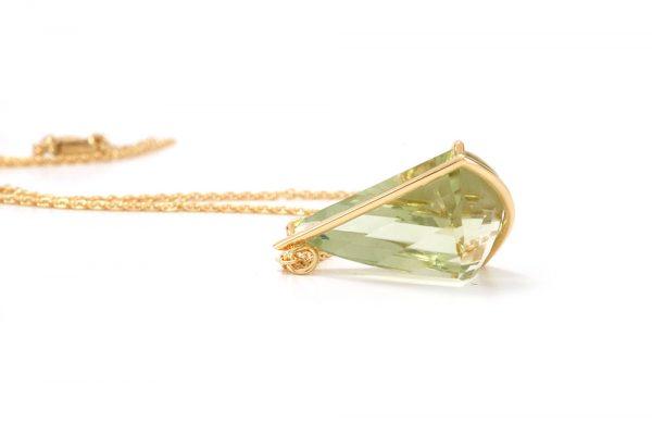 Pendentif Pendulum - or jaune et Prasiolite 6
