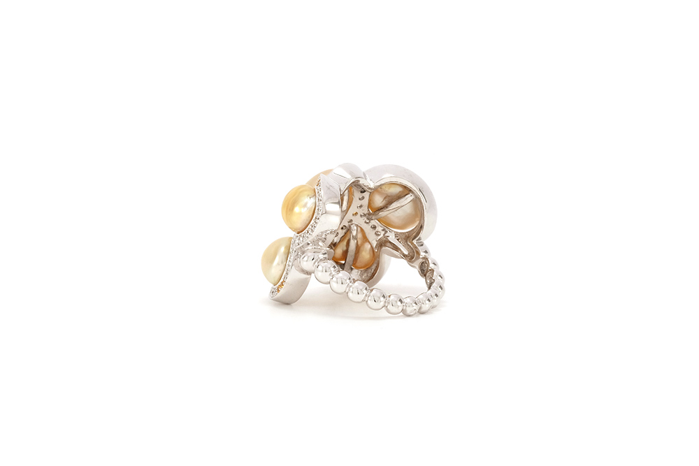 Bague Butterfly - Diamants, saphirs jaunes et Or Blanc 7