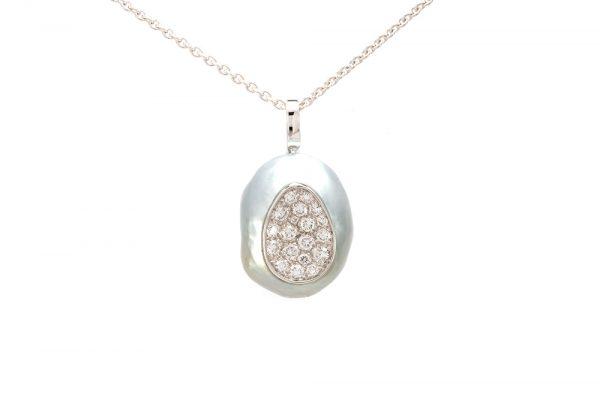 Pendentif Baroque - Perle et Diamants 1