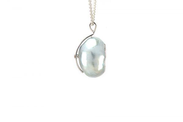 Pendentif Baroque - Perle et Diamants 3
