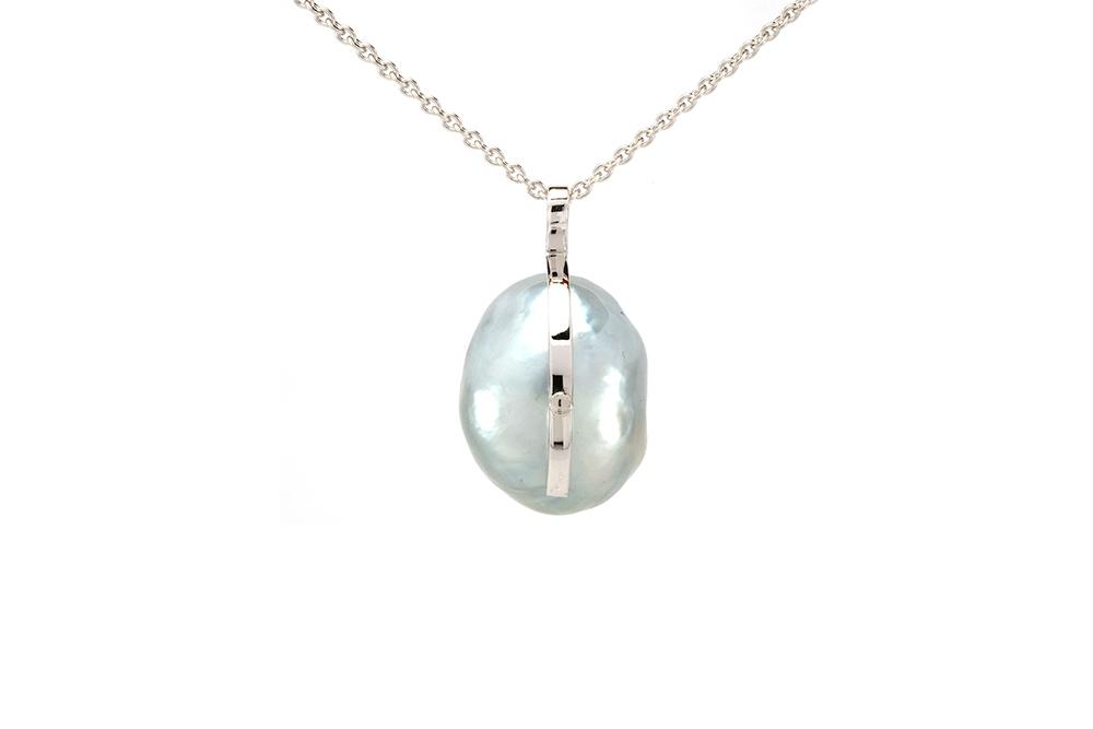 Pendentif Baroque - Perle et Diamants 4