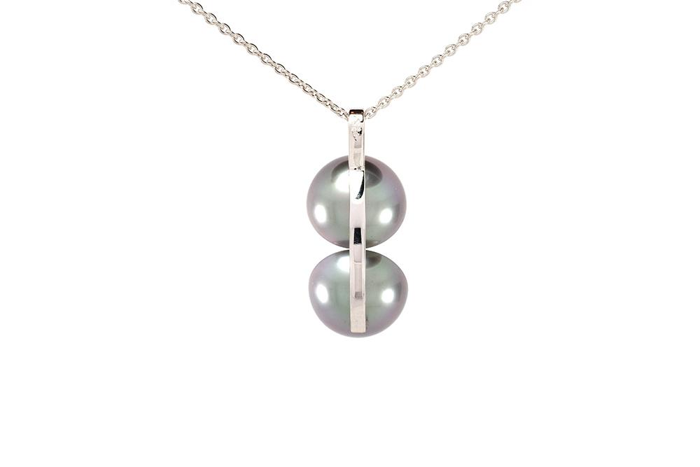 Pendentif Agora - Perle de Tahiti et Diamants sur Or blanc 3