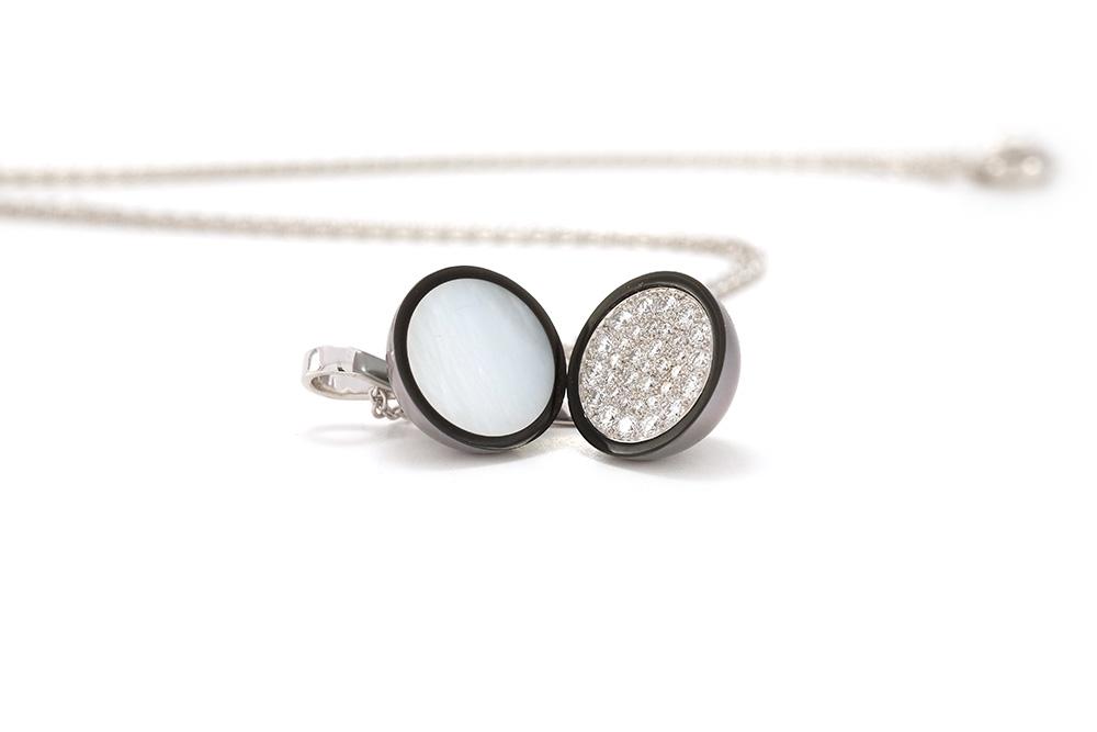 Pendentif Agora - Perle de Tahiti et Diamants sur Or blanc 4