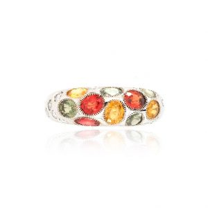 Bague Disco - or blanc, saphirs et diamants 1