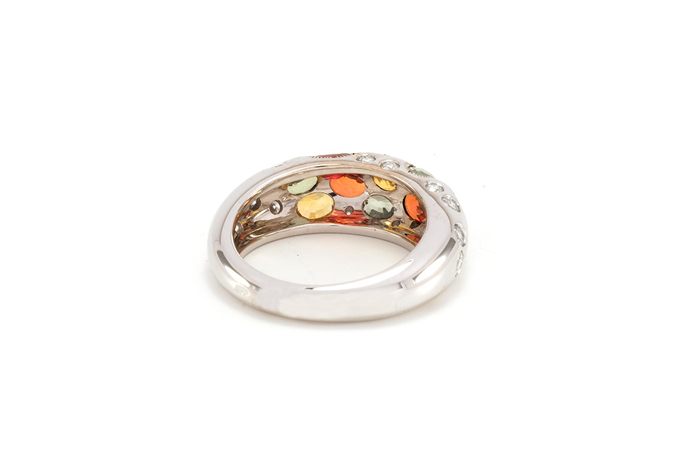 Bague Disco - or blanc, saphirs et diamants 4