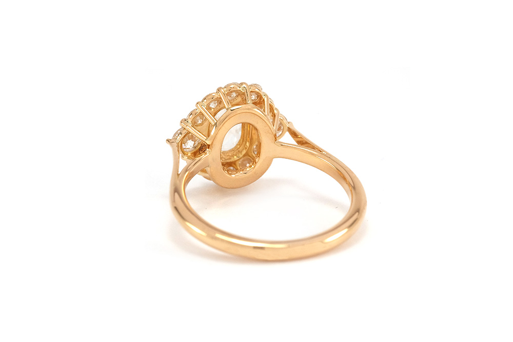 Bague Panier Rose Cut - Or jaune et Diamants 5