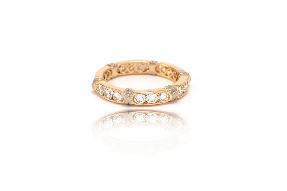 Alliance Antoinette - Or jaune 18k et Diamants 1