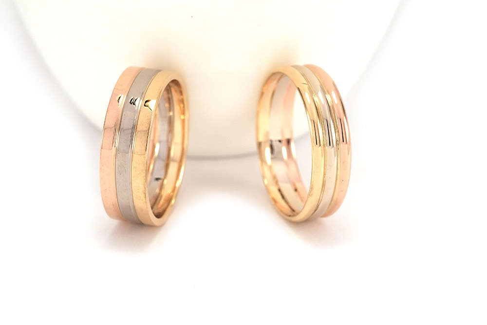 Alliance Infinity - Or 3 couleurs 18k 2