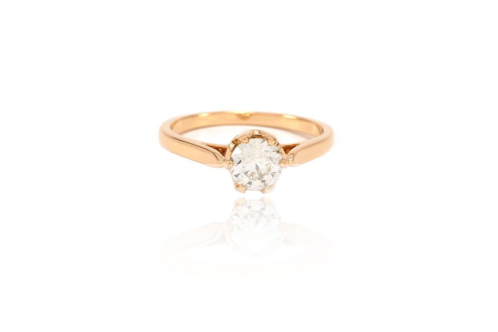 Solitaire Elisabeth - Or jaune et diamant 1
