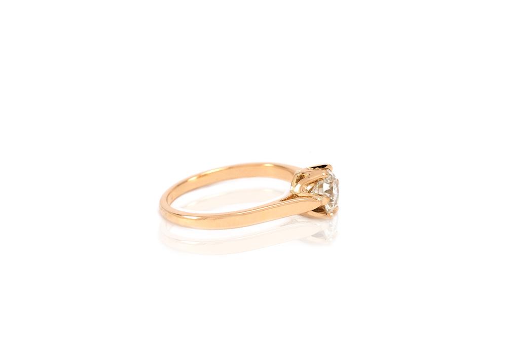 Solitaire Elisabeth - Or jaune et diamant 2