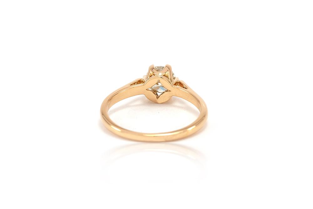 Solitaire Elisabeth - Or jaune et diamant 3
