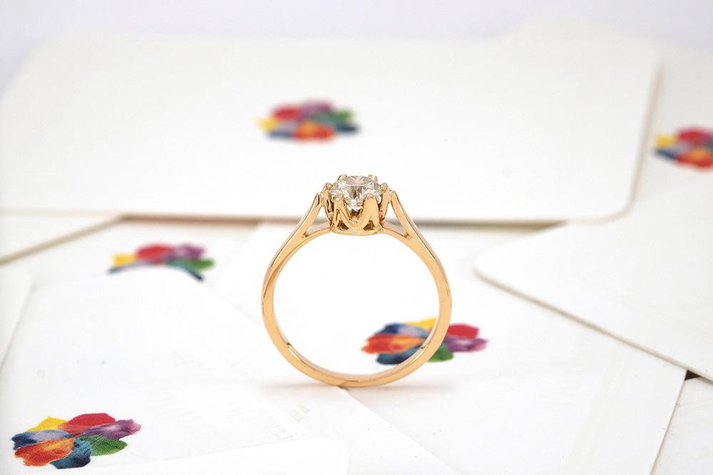 Solitaire Elisabeth - Or jaune et diamant 4