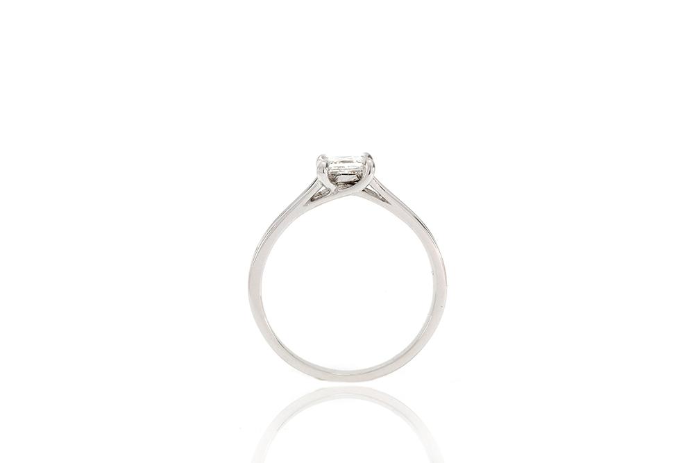 Solitaire Elyseum - Diamant Princesse et Or 18k 1