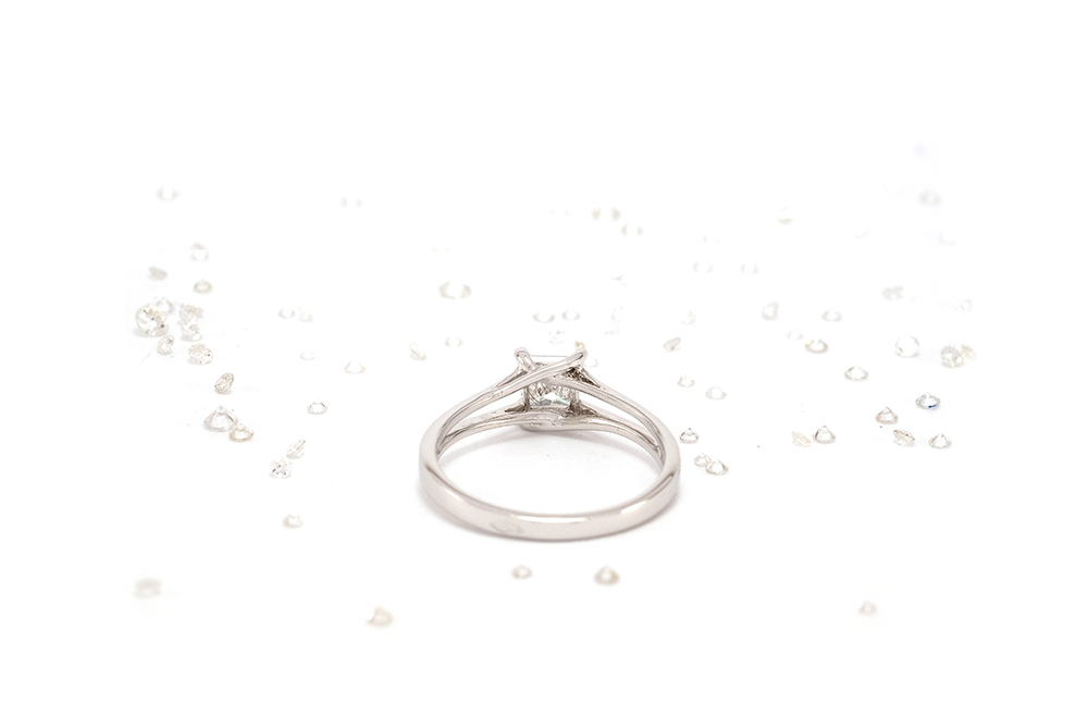 Solitaire Elyseum - Diamant Princesse et Or 18k 2