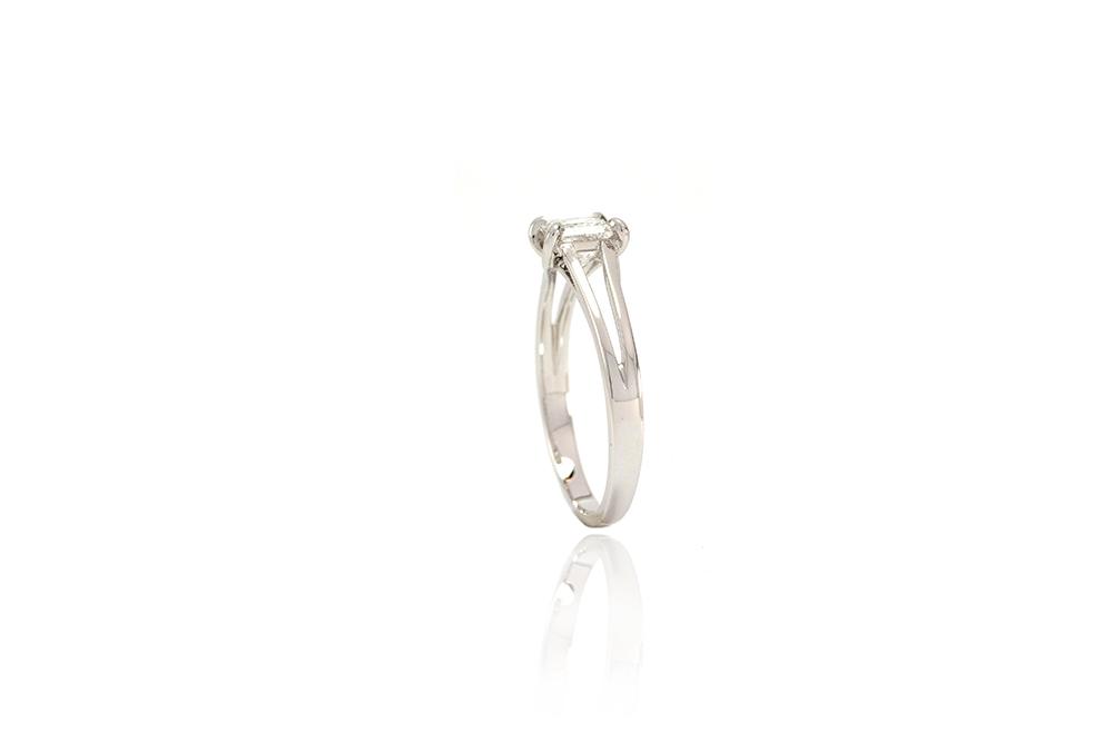 Solitaire Elyseum - Diamant Princesse et Or 18k 4