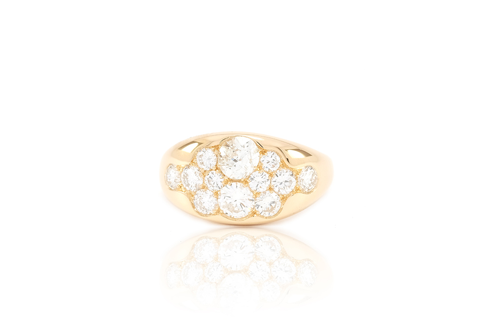 Bague Angel, Or Jaune et Diamants 1