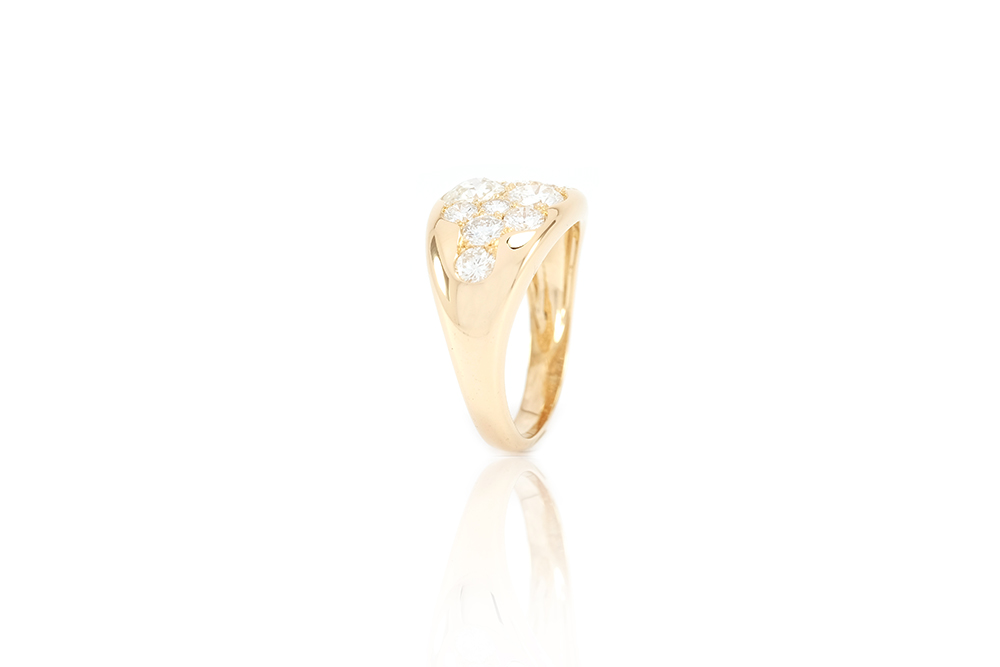 Bague Angel, Or Jaune et Diamants 5