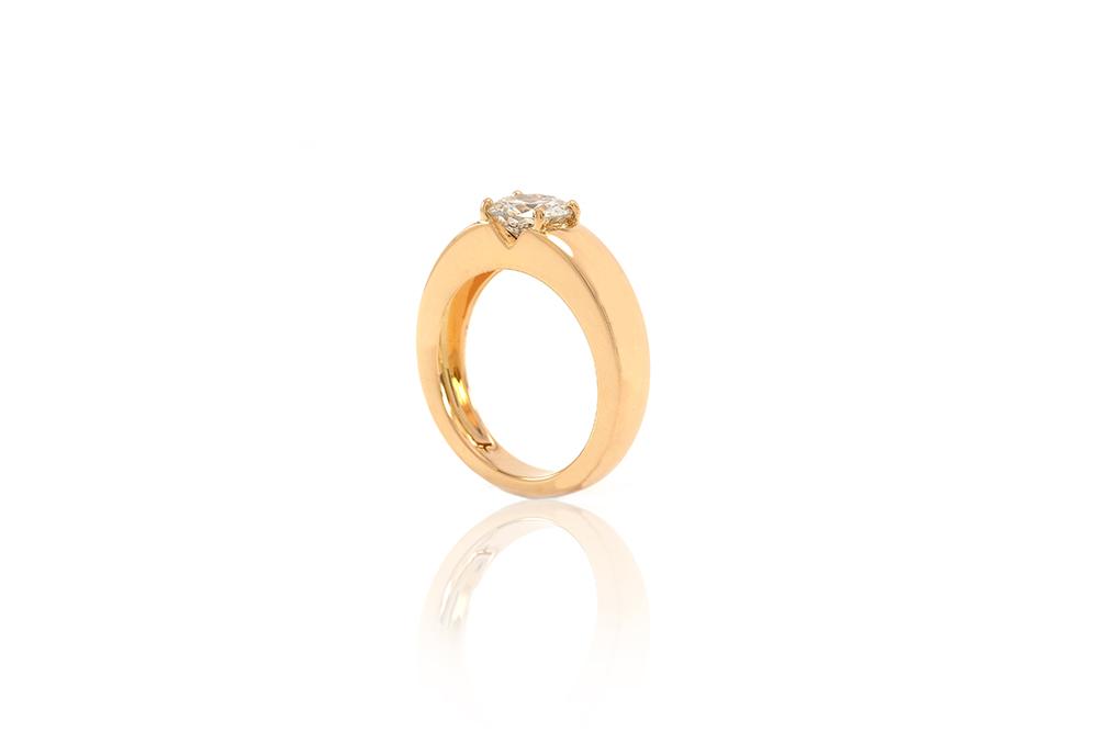 Bague Orog, or jaune et diamant 1