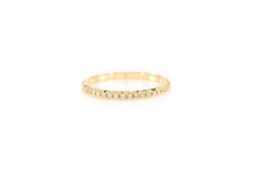 Alliance Antoinette, Or Jaune et Diamants 1