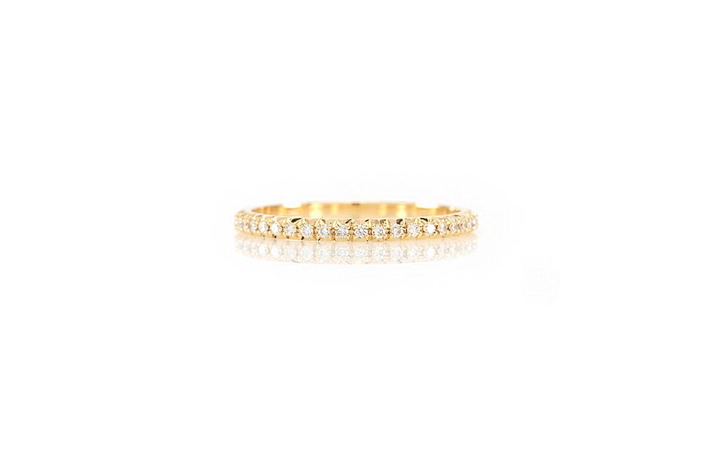 Alliance Antoinette, Or Jaune et Diamants 3